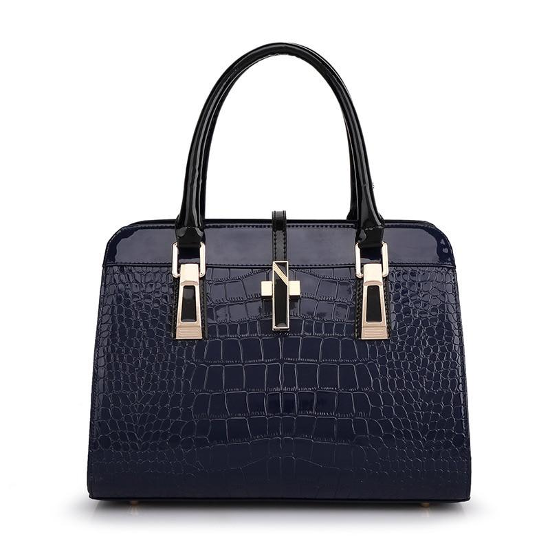 ФОТО 2016 New Fashion Women Handbag Pu Leather Shoulder Bags Woman Sequined Decoration Crocodile Lines women messenger Bags  js0024a