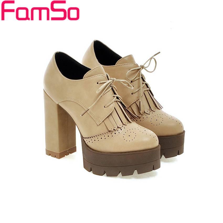 El envío libre 2016 Nuevas Mujeres de Los Zapatos de Gladiador Bombea Los Zapatos Borla Zapatos Plataformas Plataformas Bombas de Tobillo Zapatos de Invierno Oficina PS2639