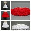 Enagua de Tul corto de Baile Del Banquete de Boda vestido Barato Enaguas Enaguas 2017 Blanco Rojo de Mini Falda Estilo Árabe Dubai