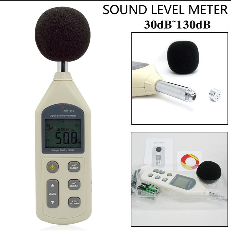 GM1356 USB Digital Sound Level Meter 30-130dB A/C FAST/SLOW dB Decibel meter Noise Tester Analysis Software With box
