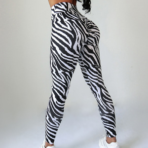 Image 2 - Frauen Fitness Leggings Hohe Taille Schlank Sport Hosen Sexy Zebra Schlange Leopard Tier Haut Druck Workout Gym Leggings Push Up