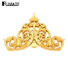 RUNBAZEF Decorative Material Condole Top Line Background Wall Furniture Home Decoration Accessories Carved Flower Figurine