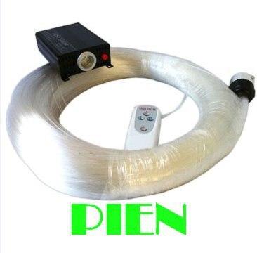 RGB LED Fiber Optic Lights Cable end glow roll Star Ceiling DIY Kit 0.75mm 2M pmma plastic+16W Engine+Remote 220V by DHL 6 set free shipping rgb led pmma fiber optic