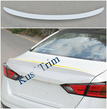 FOR Nissan Altima 2019 ABS Rear Tail Trunk Spoiler Wing Lip Trim Multicolor osmrk unpainted abs tail wing roof visor rear spoiler lip for nissan juke hatchback
