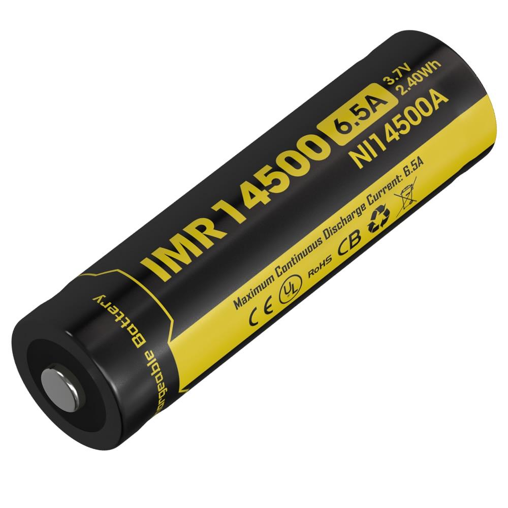 Nitecore NI14500A 650mAh 14500 Li-Ion Rechargeable IMR Battery 3.7V