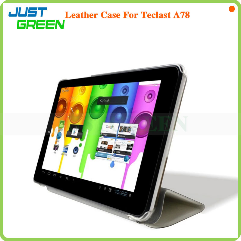 Fashion Design! Faux Leather Flip Stand Case Cover For 7 inch Telcast A78 tablet pc Blue
