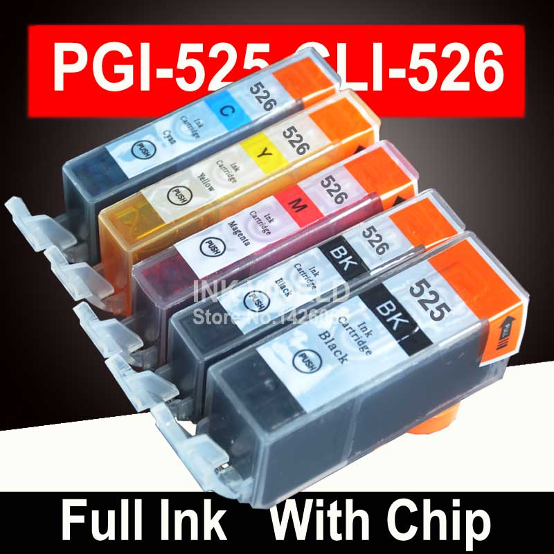 PGI525 PGI 525 CLI 526 Ink Cartridges For Canon Pixma IP4850 Ix6550 MG5150 MG5250 MG6150 MG8150 MX885 MG5350 Printer Cartridge