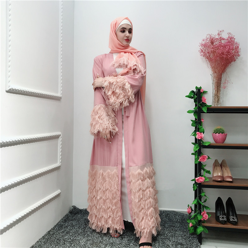Tassel Abaya Kimono Robe Dubai Turkey Muslim Hijab Dress Kaftan Abayas For Women Jilbab Caftan Islamic Clothing Ramadan Elbise