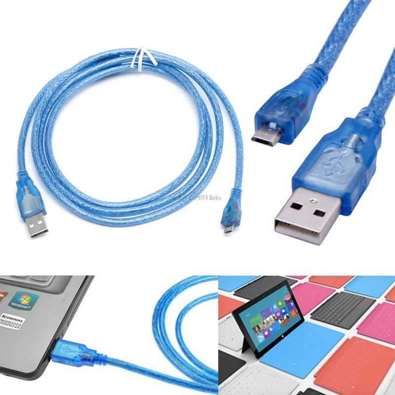 Novo USB 2.0 A Macho para Micro B 5pin Masculino 28/24AWG Carregador Cabo de Dados de Alta Velocidade de 1.5M
