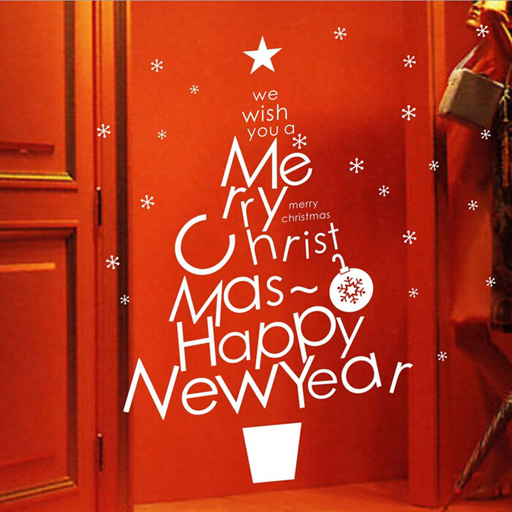 Merry christmas wall stickers vinyl home wall decor decals wall merry christmas wall stickers vinyl home wall decor decals wall stickers home decor living room self adhesive wallpaper nt0 in underwear from mother kids amipublicfo Gallery