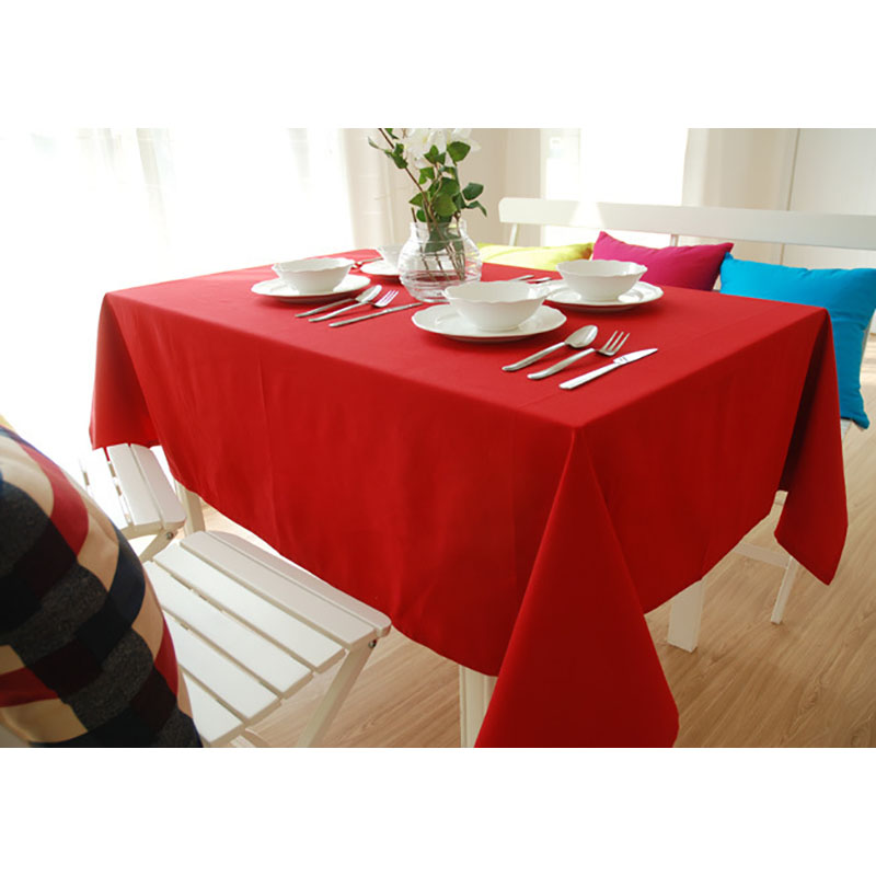 Canvas Table Cloth Woven Green Brown Red Tablecloth Home Toalha De ...