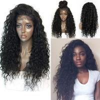 New 1PC 60cm 250% Natural Density Curly Lace Front Human Hair Wigs For Black Women Hair Extension Hairdressing Tool AU18