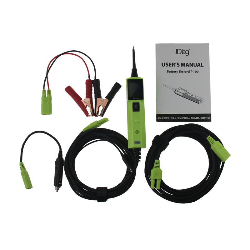 New Arrival JDiag BT-100 Battery Tester Electrical System Tester Same as Autek YD208 new arrival micro 468 car battery system tester for 12v