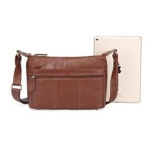 Image 4 - 2020 Genuine Leather Women Messenger Bags Female Small Shoulder Handbags Vintage crossbody Bag For Ladies bolsa feminina MM2302