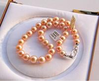 gorgeous 12 13MM south sea round gold pearl necklae 18inch 925s>>>girls for women Free shipping