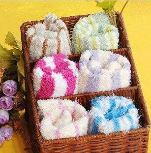 Free Shipping 12 pairs/lot Hot Sale 2013 Novel Women Terry Socks Non-slip Floor Socks Warm + Large Wholesale