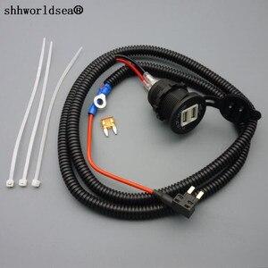 Shhworld 1 комплект, 1 м 1,5 мм2 Адаптер зарядного устройства с двойным USB прикуриватель 12 В удлинитель мини предохранитель