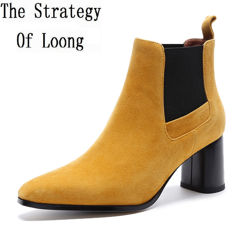 2017 New Arrival Pure Color Square Toe Spring Autumn Genuine Leather Short Boots High Top Square Heels Women Ankle Boot ZY170917 1000pcs lot electronic components abs10 abs10 mark abs10 sop 4 ultra thin 1a 1000v rectifier bridge original new special sales
