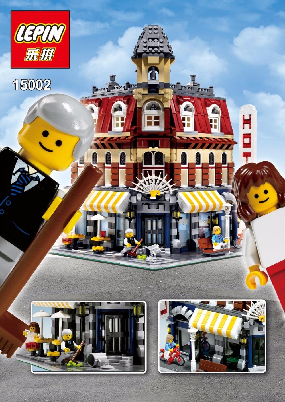 ФОТО 2016 new lepin 15002 2133pcs creators cafe corner model building kit minifigure blocks bricks compatible with legoe 10182
