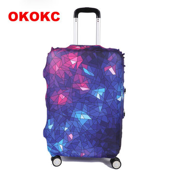 OKOKC Geometric Stars Thicker Travel Luggage Protective Suitcase Cover Apply To 19~32inch Case Elastic