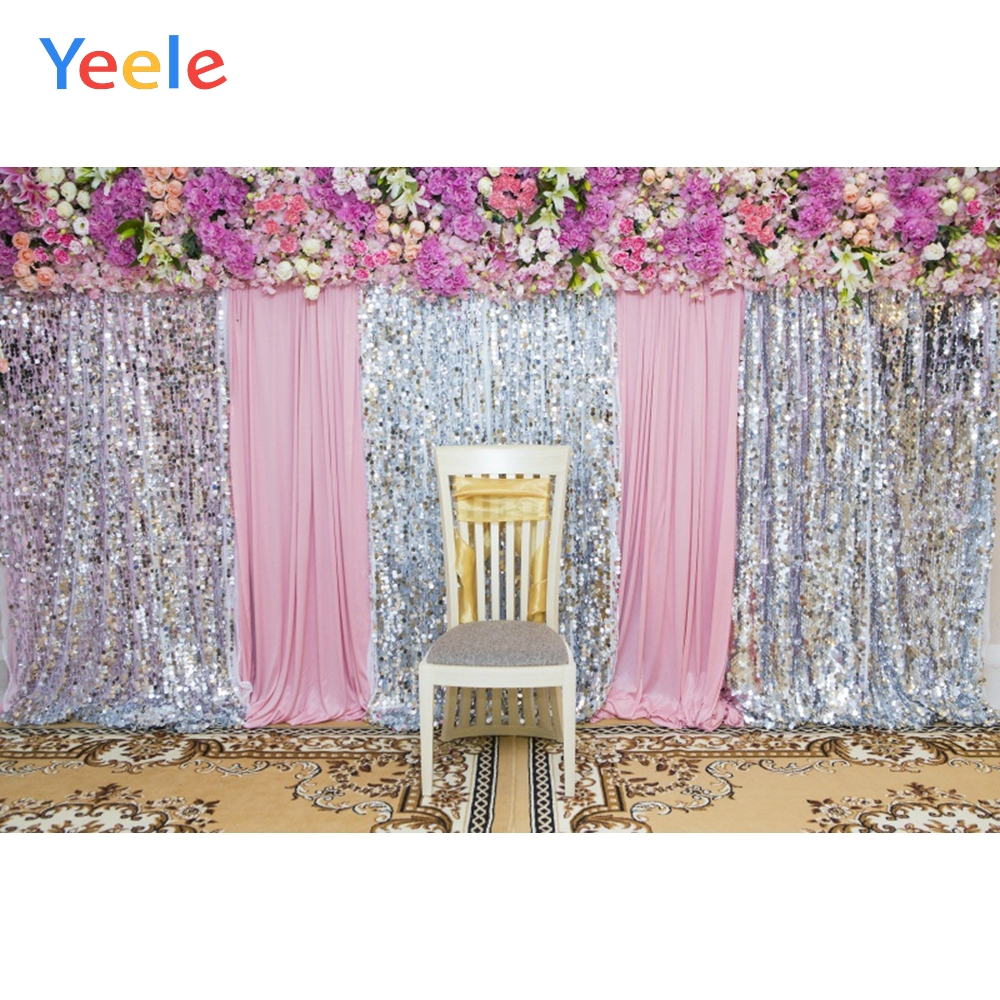 Yeele Wedding Photocall Party Chair Flower Decors Photography Backdrops Personalized Photographic Backgrounds For Photo Studio in Background from Consumer Electronics