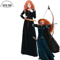 Newest Brave Merida Princess Adult Cosplay Costume Dress For Halloween Party Costumes Custom Made
