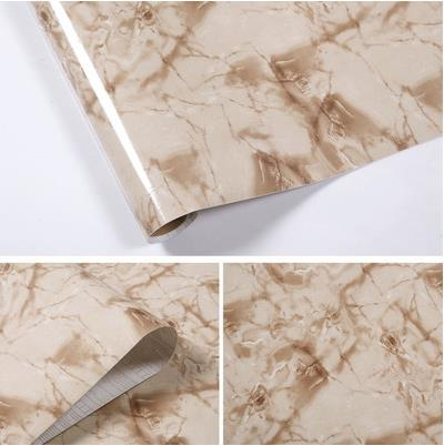 Marble Strip Self Adhesive Wallpaper Kitchen Oil Sticker Kitchen Cabinet  Countertops Refurbished Waterproof Tile In Wallpapers From Home Improvement  On ...