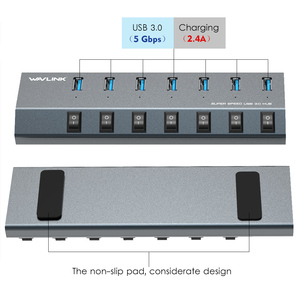 Image 2 - Wavlink USB רכזת 3.0 במהירות גבוהה 4/7 יציאות מיקרו USB 3.0 Hub ספליטר על/כיבוי עם כוח מתאם עבור MacBook Pro מחשב נייד מחשב