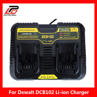 DCB102 Double Li ion Battery Charger USB 5V For DeWalt 12V 14.4V 18V 20V DCB101 DCB200 DCB140 DCB105 DCB200 DCB201 DCB203