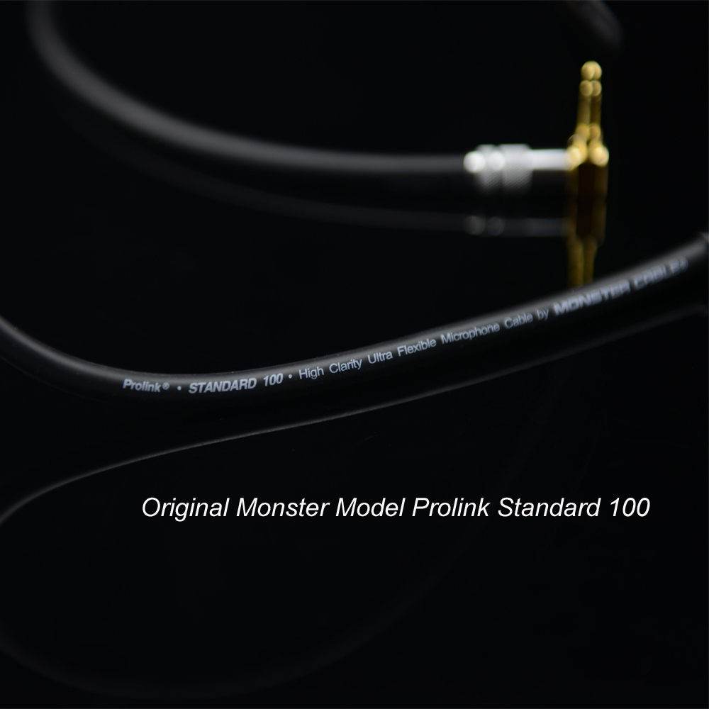 MonsterProlink Standard 100 Audio Cable Stereo 3.5mm to 2RCA right angle for MP3 CD DVD TV, Audiophile cable
