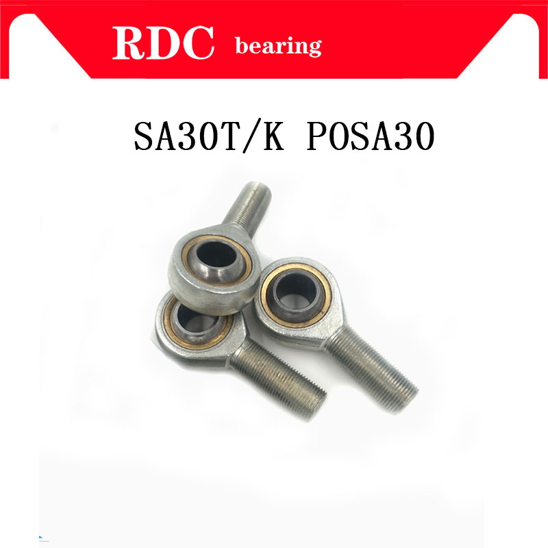 Free Shipping SA30T/K POSA30 High quality rod end bearing 30mm right hand thread male joint bearing factory direct