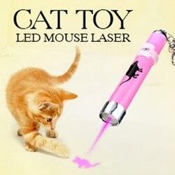 Tragbare Kreative und Lustige Haustier Katze Spielzeug LED Laser Pointer licht Stift Mit Helle Animation Maus Schatten
