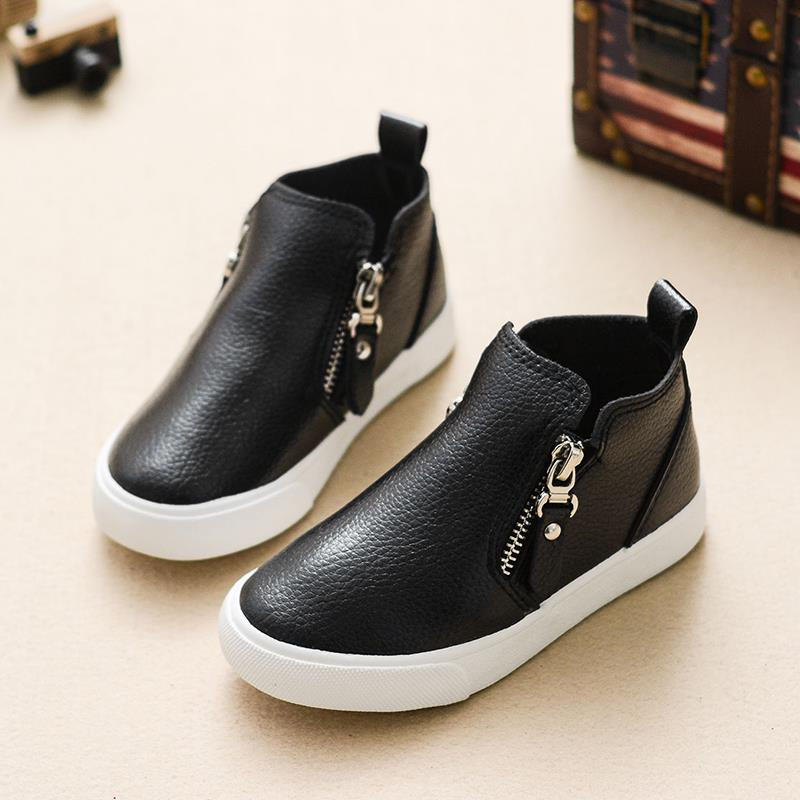 793487eee92 children shoes girls boys shoes fashion high top pu leather shoes kids  comfortable casual sneakers boys girls shoes-in Sneakers from Mother   Kids  on ...