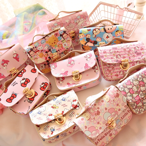 Cartoon Cute Duffy Bear Stellalou Hello Kitty My Melody Cinnamoroll Pudding Dog Little Twin Stars Tsum Coin Purse Key Card Bag