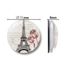 1pcTower pattern refrigerator magnet 25MM glass souvenir magnetic stickers home