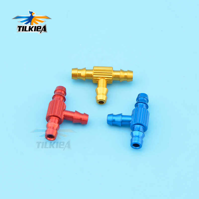 1pc Aluminum Alloy 3 Way Fuel Pipe Nozzle  Fuel Jointer for RC Aircraft Airplane
