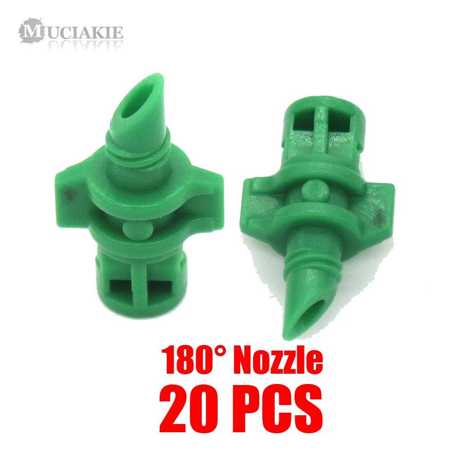 HTB1gvU6c9tYBeNjSspaq6yOOFXaa MUCIAKIE 20PCS/pack 90 180 360 Degree Refraction Nozzle Garden Irrigation for Plant Spray Nozzle Mist Sprayer Irrigation Fitting