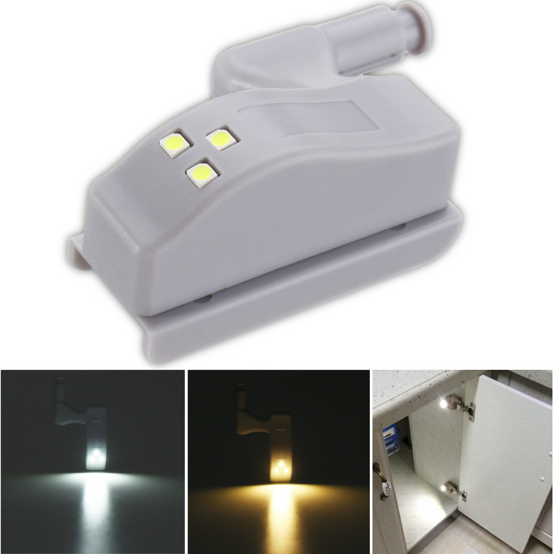 10pcs Sensor Hinge Light Closet Cabinet Wardrobe Light Furniture Hardware Smart LED Night Light Lamp Warm/Pure White DC12V