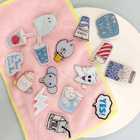 1 PCS Brooch Cartoon Letters Acrylic Badges Monster Badge Icons on The Backpack Pin Badge Decoration Icon