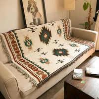 Boêmio geométrico cobertor mandala tapete capa do sofá tapeçaria jogar toalha folha de cama adultos crianças viagem em casa cobija cobertor