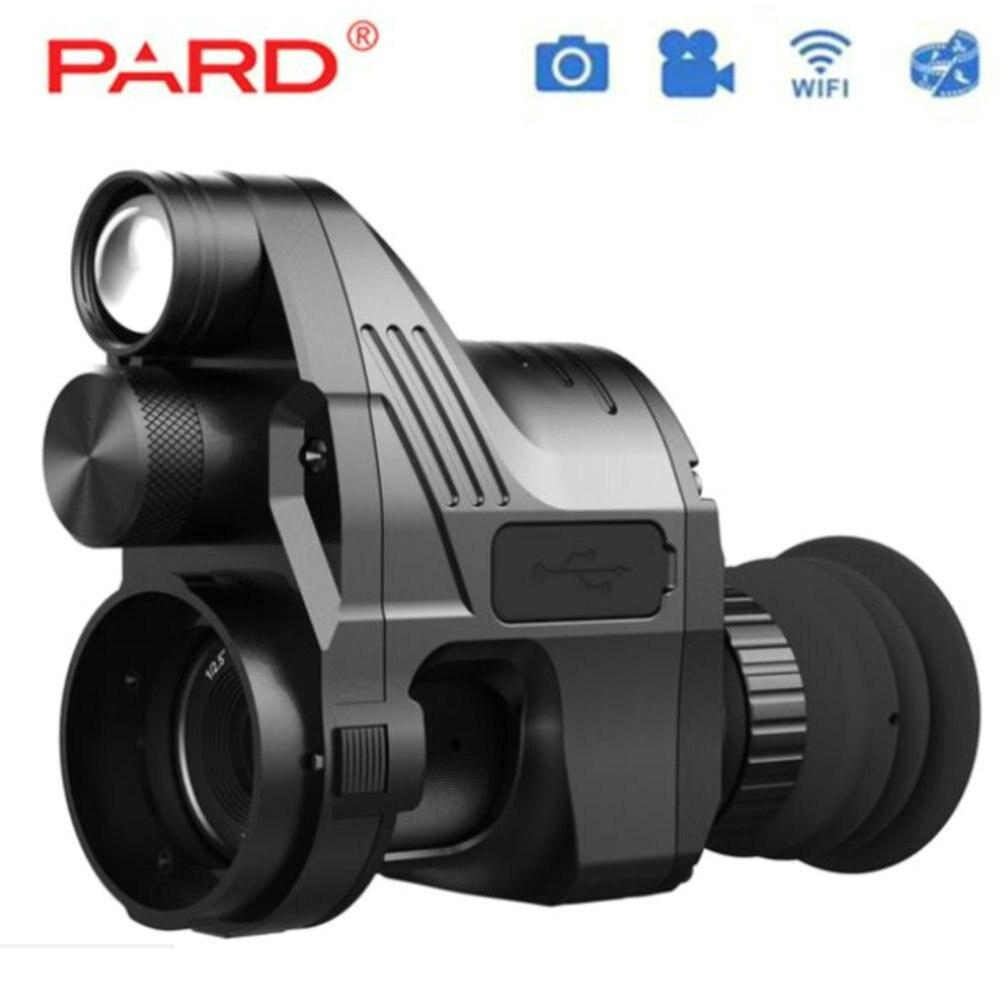 PARD NV700 Riflescope цифровой ночного видения Встроенный ИК-осветитель красный лазерный подключение винтовка сфера использования