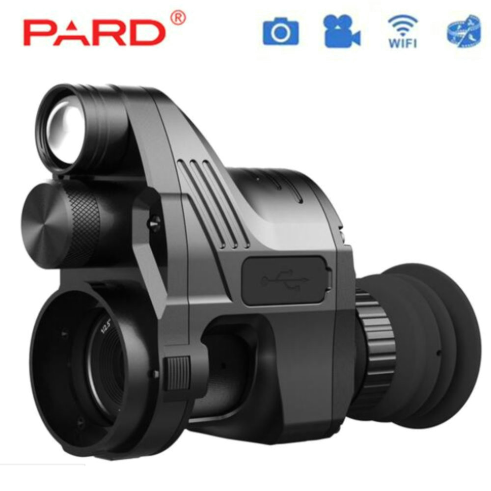 PARD NV700 Riflescope Digital noche visión incorporada IR iluminador láser rojo conexión Rifle uso
