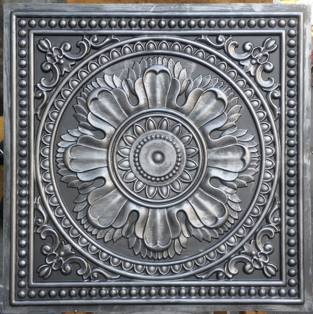 Pl17 faux tin ceiling tiles antique tin color 3d embossed cafe pl17 faux tin ceiling tiles antique tin color 3d embossed cafe club pub decorative tin wall tiles 10tileslot in decorative films from home garden on dailygadgetfo Choice Image