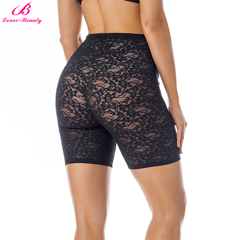 Lover Beauty 2018 Summer Seamless Lace Underwear Women Shorts High Waisted Sexy Female Tummy Control Panty Lingerie Bottoms