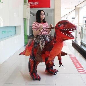 Image 4 - 大人の恐竜T REXインフレータブル衣装クリスマスコスプレに恐竜動物ジャンプスーツハロウィーンの衣装男性