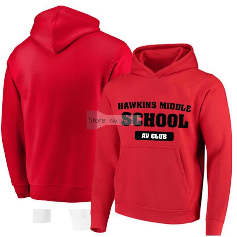 Stranger Things Hoodies Hawkins Middle School Av Club Sweatshirt Plus Size Cotton Hoodies Sweat Homme Sudaderas Para Hombre Z40