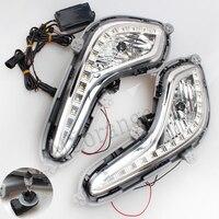 LED Car External Light Source Fit For Hyundai Accent Solaris Verna 2010 2013 Daytime Running Light