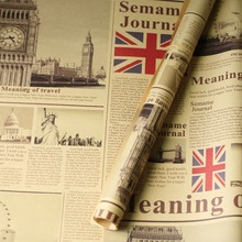 50*70cm Thicken Nostalgic Old English Newspaper European Vintage Style for Photo Props Ornaments Food Photography Background Mat
