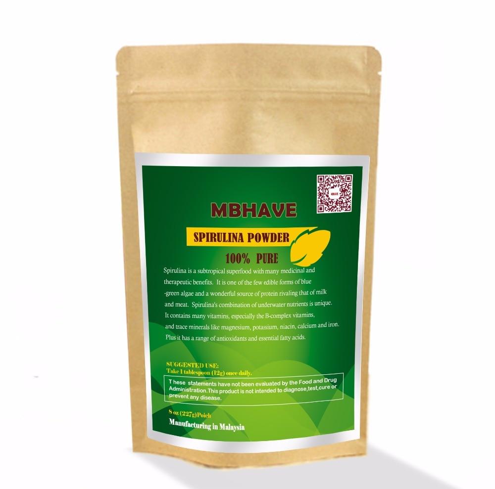 Spirulina Powder 8oz - 100% Pure Premium Nutrient-Dense Algae