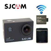 Ücretsiz Kargo!! Orijinal SJCAM SJ4000 Artı WiFi 2 K Novatek 96660 1080 P 60FPS Gyro Spor Kamera + ekstra 1 adet Pil + Pil Şarj
